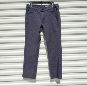 Uniqlo blue/navy houndstooth slim fit casual pants